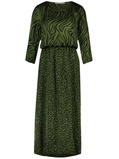 Aaiko Jurk GREEN DRESS METINA VIS 520 JUNGLE GREEN
