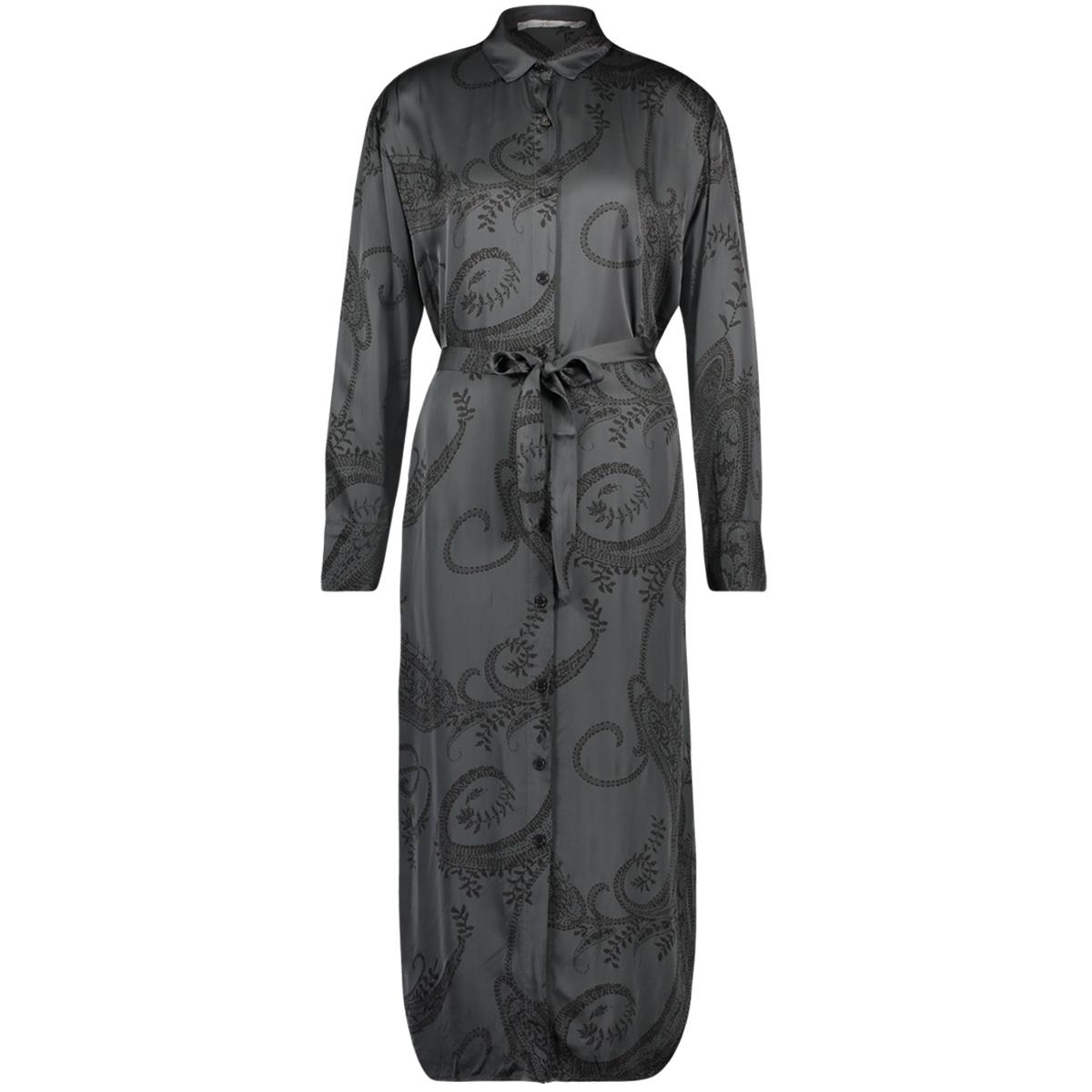 grey flower dress  palma paisley vis 612 aaiko jurk steel grey