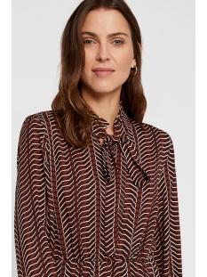 vmzenac ls short dress wvn 10221585 vero moda jurk madder brown/zenac