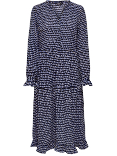 Only Jurk ONLDARLING L/S LONG DRESS WVN 15199511 Dazzling Blue/GEOMETRIC