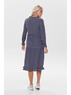 onldarling l/s long dress wvn 15199511 only jurk dazzling blue/geometric