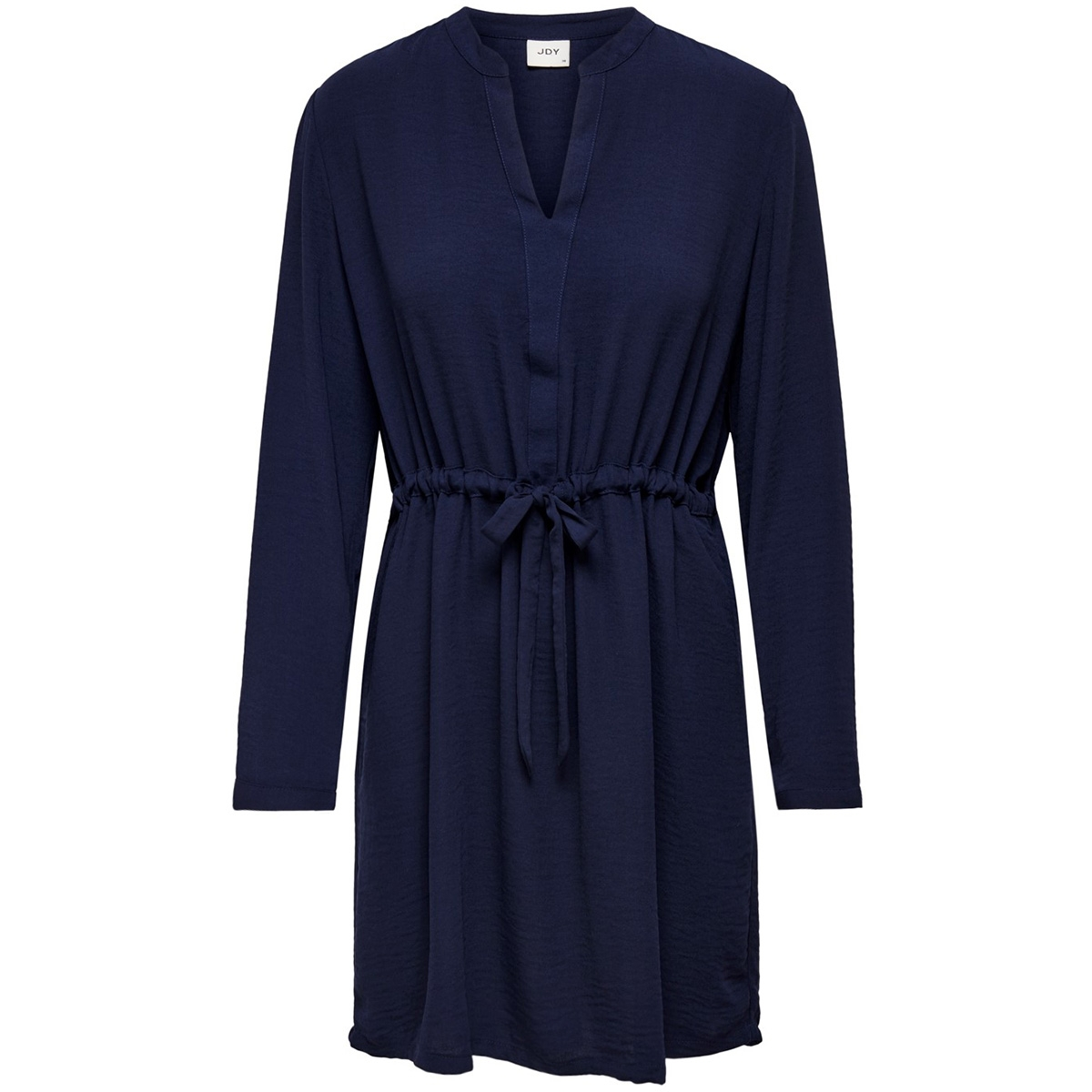 jdypoppy l/s belt dress wvn 15198946 jacqueline de yong jurk blue indigo