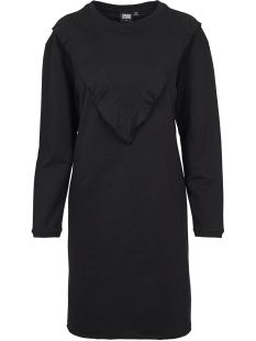 Urban Classics Jurk TERRY VOLANT DRESS TB1965 BLACK