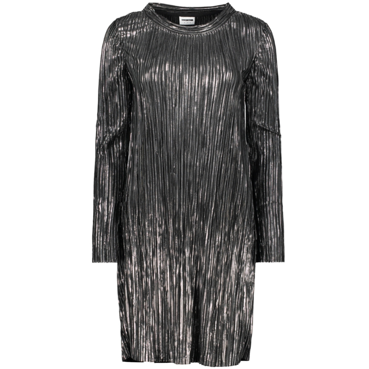nmkiss l/s o neck dress  6 27010026 noisy may jurk silver