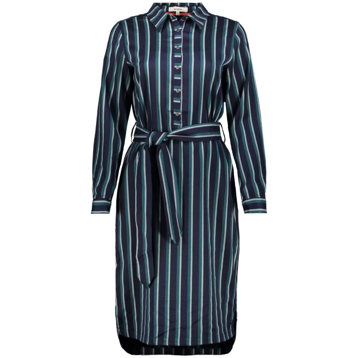 jurk met strepen j90282 garcia jurk 292 dark moon