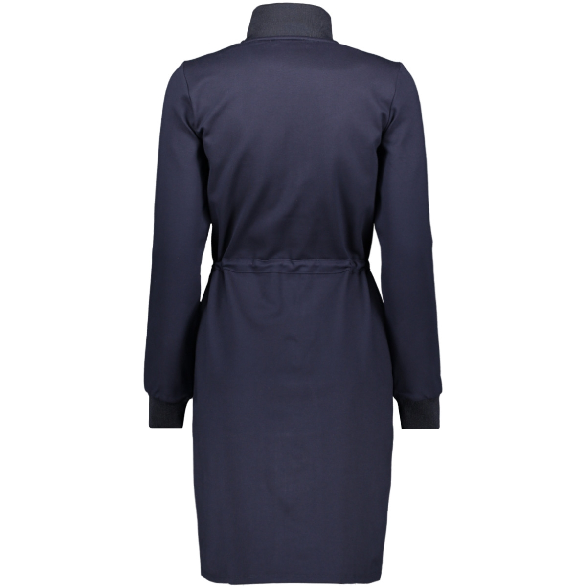 blauwe jurk met rits j90285 garcia jurk 292 dark moon