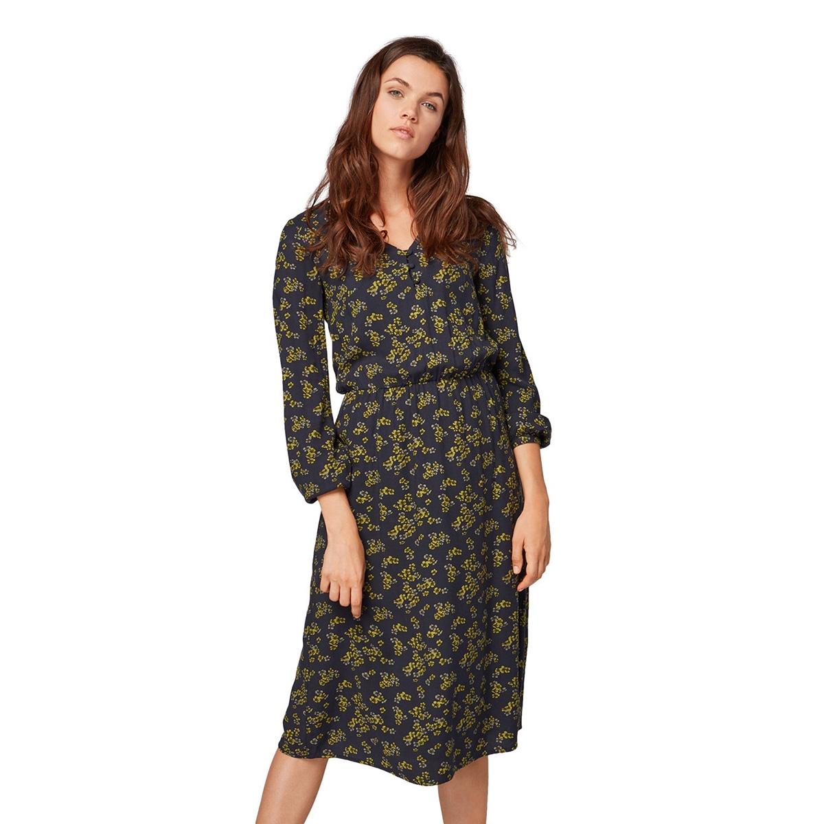 gebloemde jurk 1014828xx70 tom tailor jurk 20595