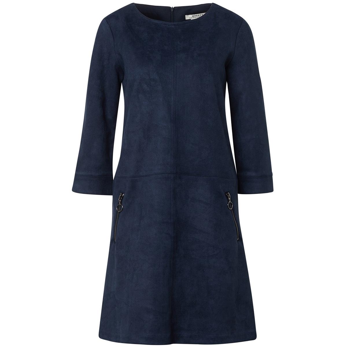 jurk van suedine 1014829xx70 tom tailor jurk 10668