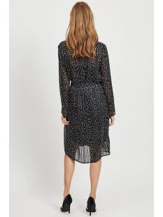 viena l/s shirt dress /rx 14058354 vila jurk black/cloud dancer