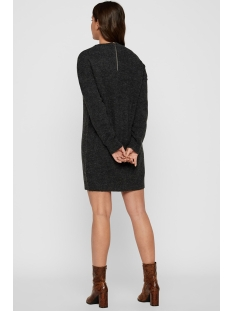 vmblakely iva ls o-neck zipper dres 10215516 vero moda jurk dark grey melange