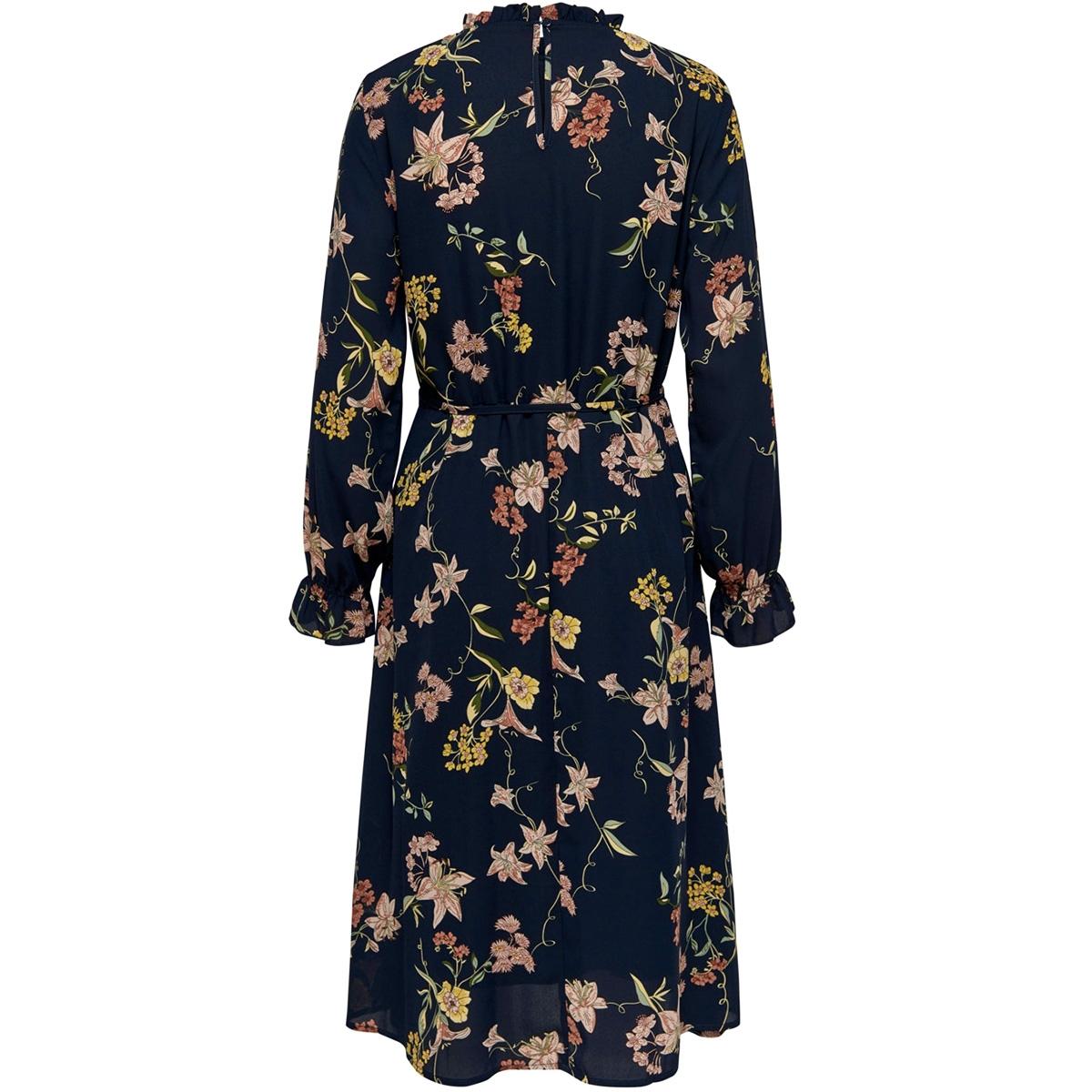 jdyjade l/s long dress wvn 15198844 jacqueline de yong jurk navy blazer/floral