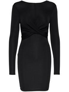 onlqueen l/s glitter twist dress jr 15189967 only jurk black/black lurex