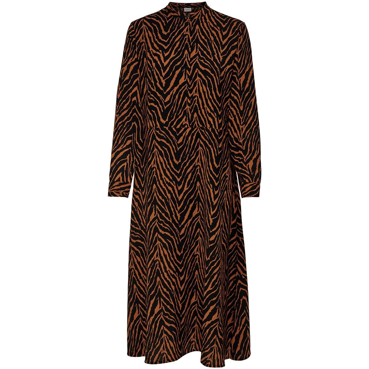 jdylucy l/s dress denim wvn 15185149 jacqueline de yong jurk black/sugar almond