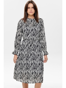 Jacqueline de Yong Jurk JDYJADE L/S LONG DRESS WVN 15198844 Black/Zebra