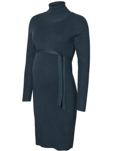 Mama-Licious Positie jurk MLJACINA L/S KNIT ROLLNECK DRESS 20004689 Midnight Navy