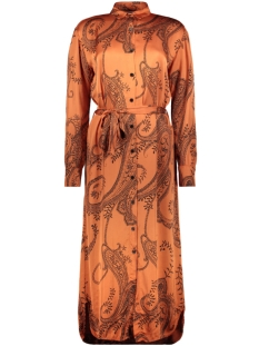 Aaiko Jurk PALMA PAISLEY DRESS VIS 612 CHILI