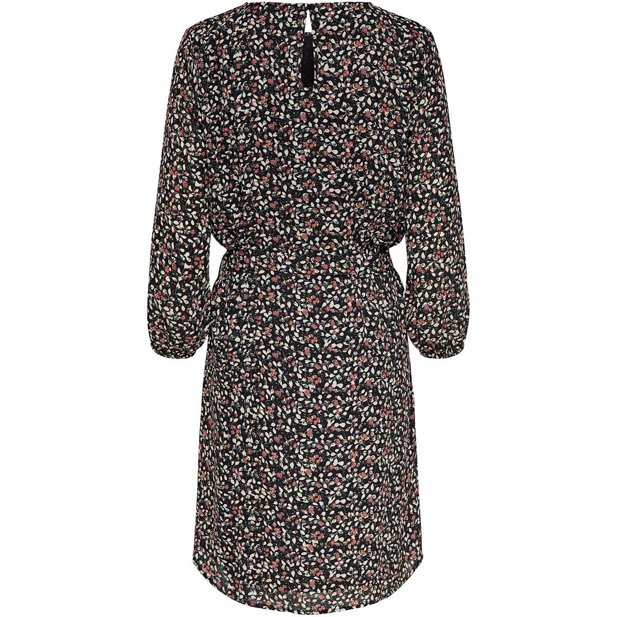 jdynikky 7/8 dress wvn 15188898 jacqueline de yong jurk black/small leaves