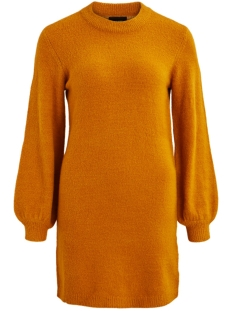 Object Jurk OBJEVE NONSIA L/S KNIT DRESS SEASON 23030464 Buckthorn Brown