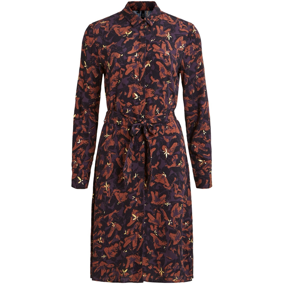 objelma lonnie ls dress 106 23031108 object jurk nightshade/aop