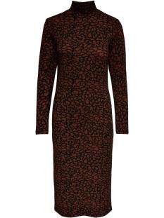 Jacqueline de Yong Jurk JDYCHRISTY L/S DRESS JRS 15188636 Black/CINNAMON