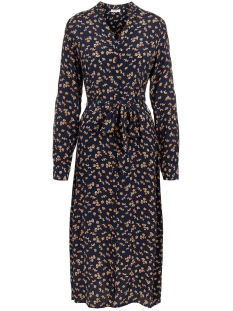 Pieces Jurk PCSIKKO LS SHIRT DRESS D2D 17104523 NAVY BLAZER/FLOWER