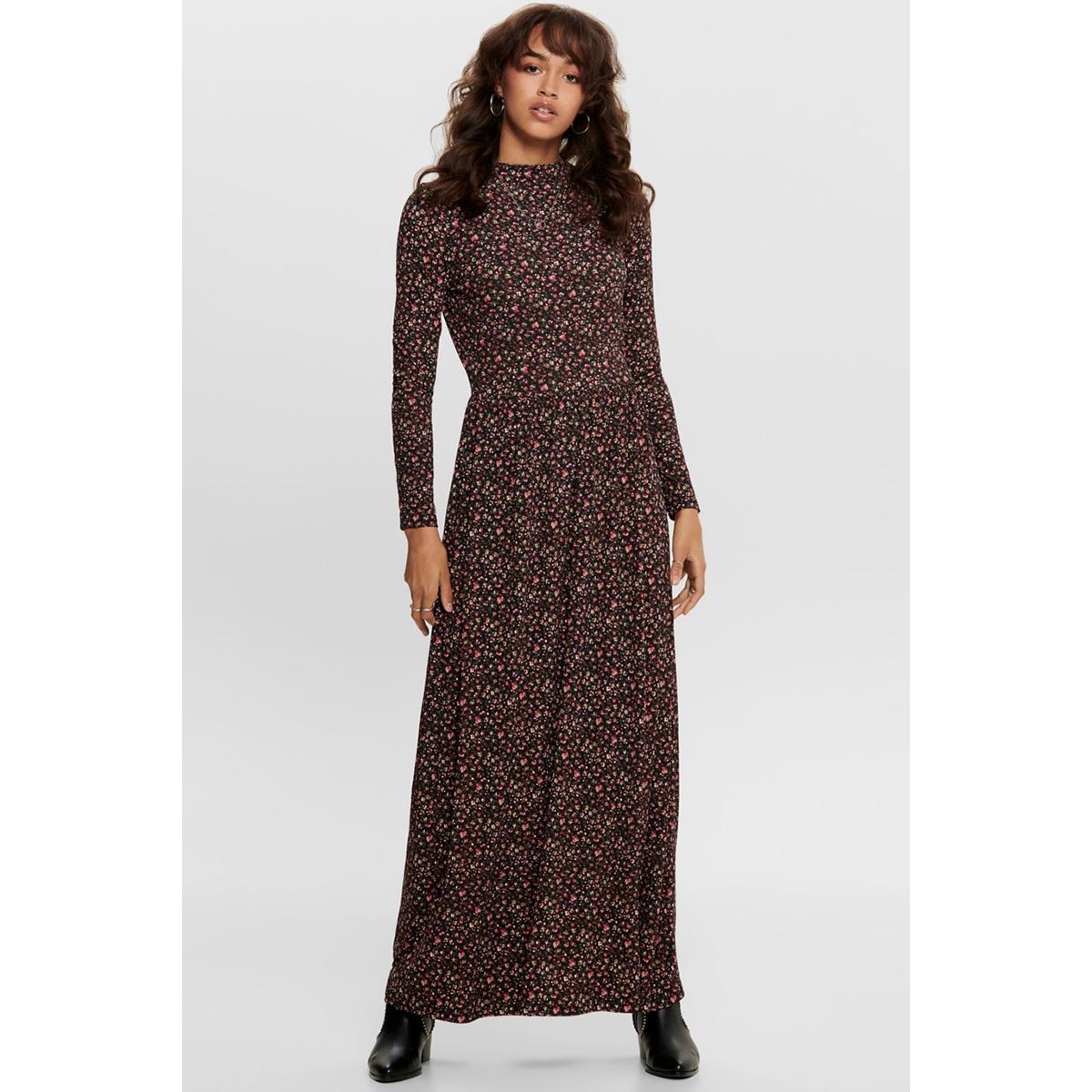 jdysvan l/s aop dress jrs rpt1 15202713 jacqueline de yong jurk black/svan
