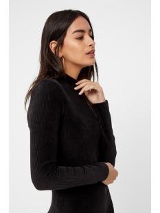 pcindira ls t-neck dress 17099753 pieces jurk black
