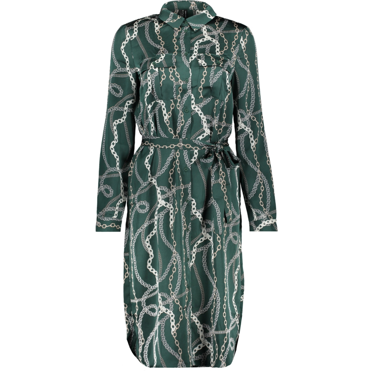 vmcailey l/s shirt tunic exp 10222766 vero moda tuniek ponderosa pine/chain