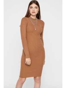 Pieces Jurk PCJADE LS T NECK KNIT DRESS 17101149 Toasted Coconut