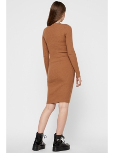 pcjade ls t neck knit dress 17101149 pieces jurk toasted coconut