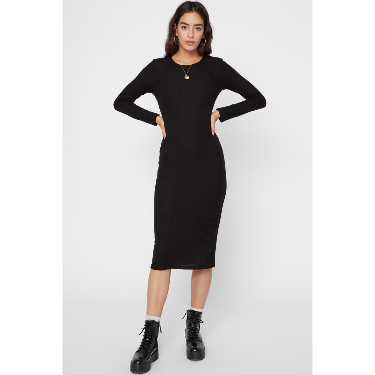 pcharuko ls dress 17099775 pieces jurk black