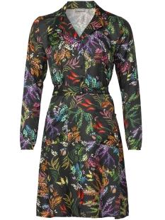 Geisha Jurk DRESS AOP FLOWER WITH STRAP 97827 Black/Multi color