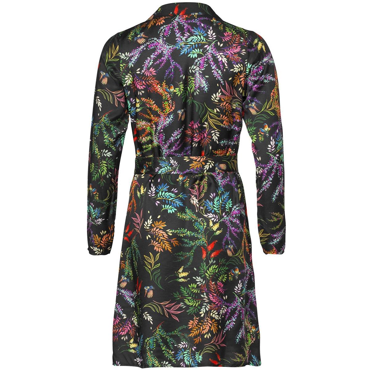 dress aop flower with strap 97827 geisha jurk black/multi color