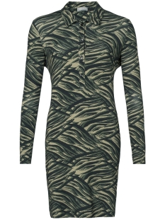 Geisha Jurk DRESS AOP ZEBRA 97871 Army comb