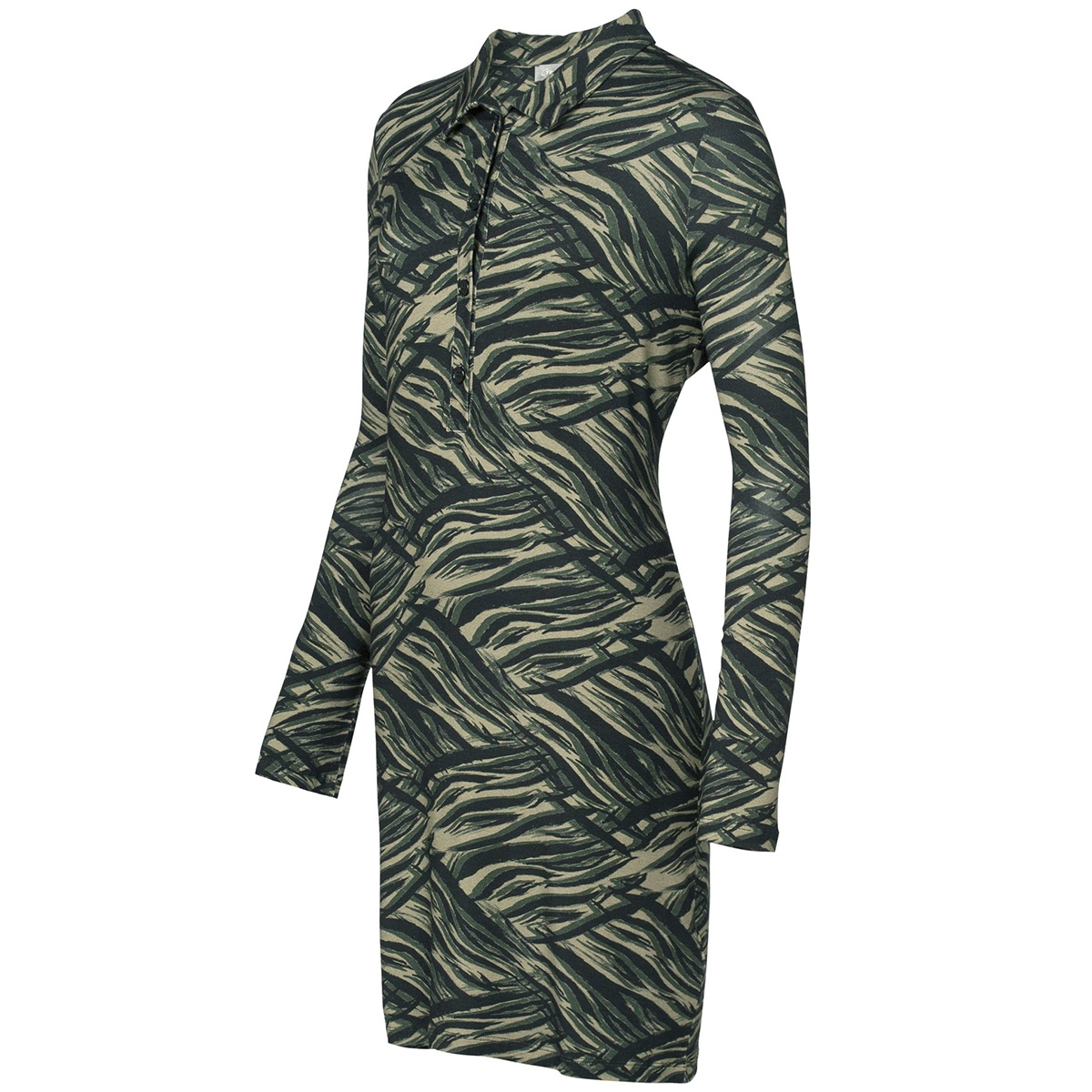 dress aop zebra 97871 geisha jurk army comb