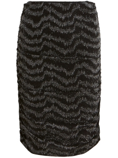 viwipy new skirt/l 14056300 vila rok black/w. silver