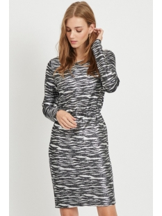 Vila Jurk VIJEFFA L/S  DRESS 14056316 Black/SILVER LUREX