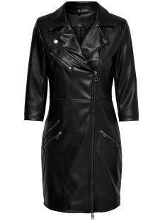 Only Jurk ONLJANNIE FAUX LEATHER DRESS OTW 15189638 BLACK