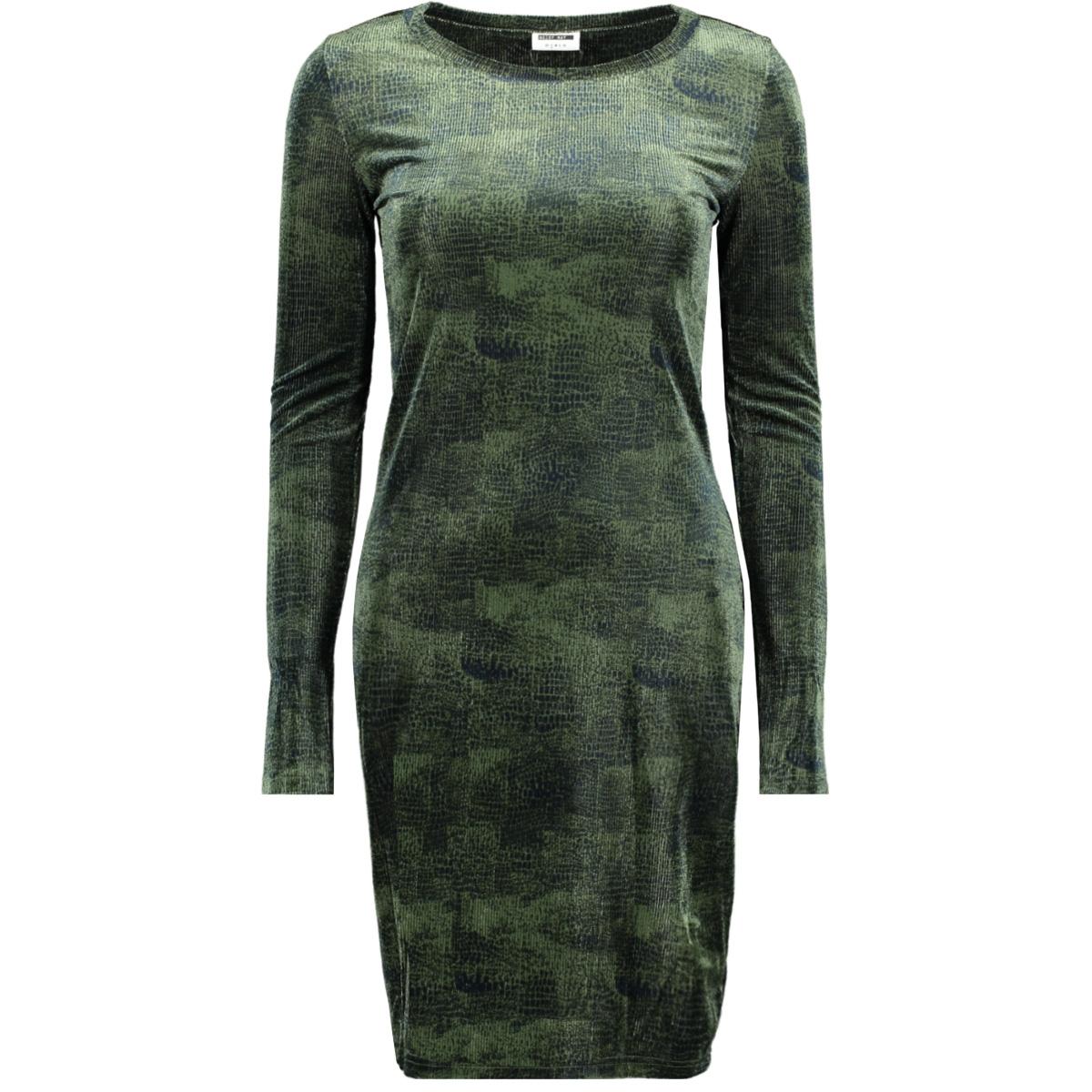 nmzanna l/s short dress 7 27009187 noisy may jurk olivine/olivine