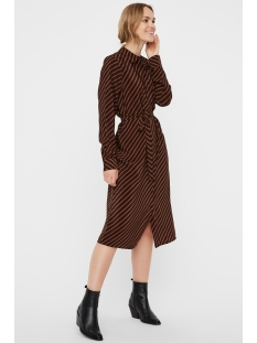 Vero Moda Jurk VMJANE SHIRT DRESS VMA 10222066 Black/JANE TORTO