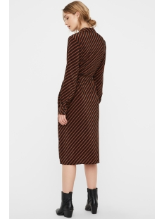 vmjane shirt dress vma 10222066 vero moda jurk black/jane torto