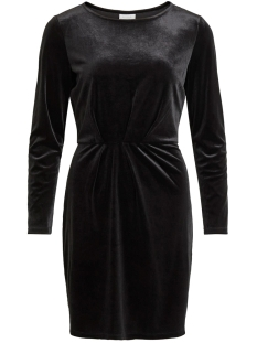 Vila Jurk VIMINNY VELVET L/S DETAIL DRESS - F 14055235 BLACK