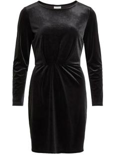 viminny velvet l/s detail dress - f 14055235 vila jurk black