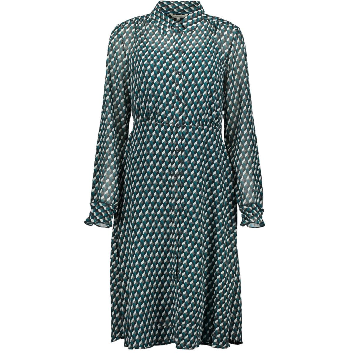 licht transparante jurk grafische print 23001662 sandwich jurk 50080