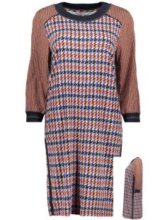 jurk met pied de poul print 23001659 sandwich jurk 40153