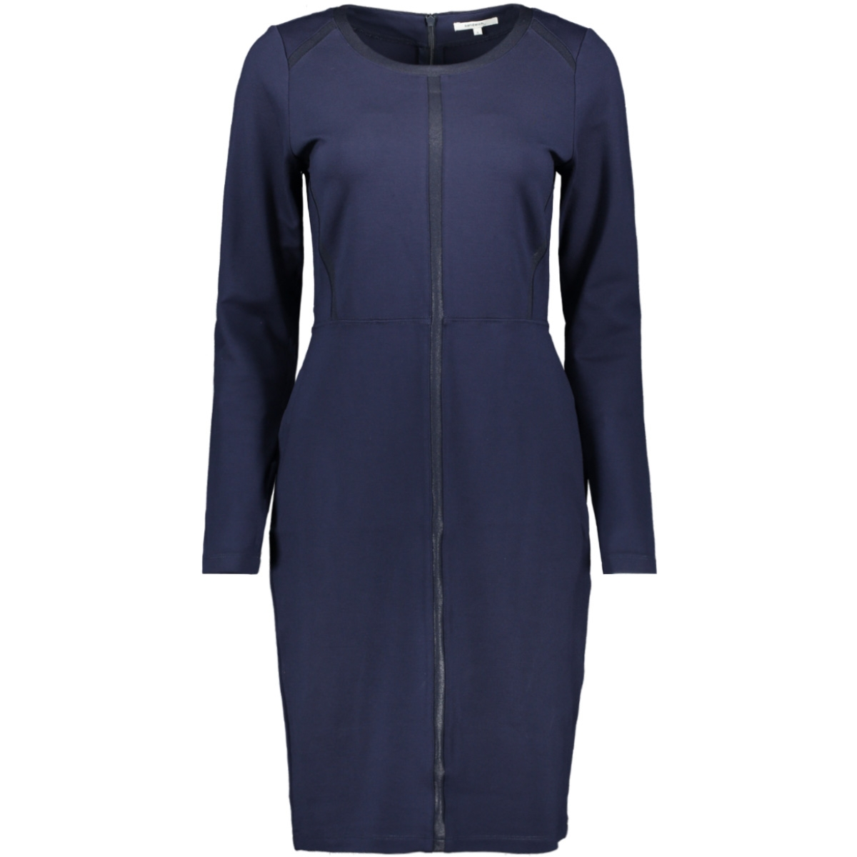 a lijn jurk met gecoate bies 23001667 sandwich jurk 40153