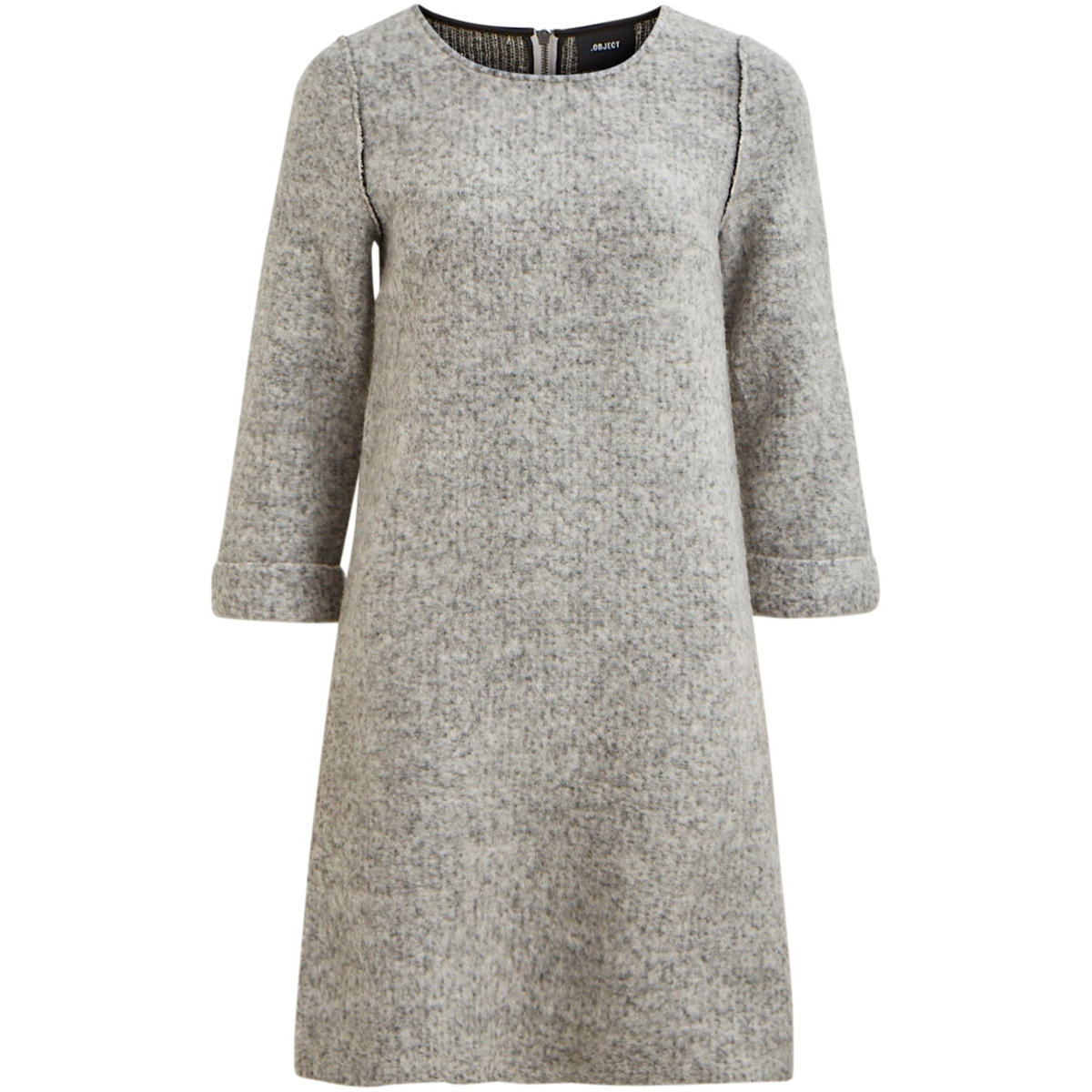 objtrina sweat dress 105 23030870 object jurk light grey melange
