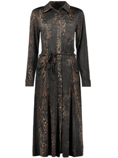 IZ NAIZ Jurk LONG DRESS 3578 SNAKE DARK