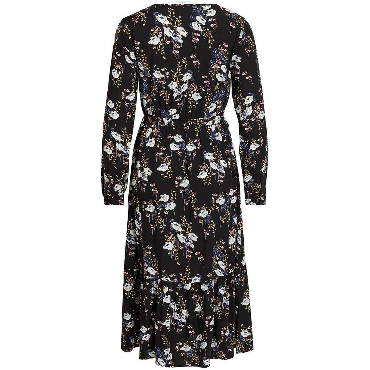 vianny l/s midi dress /rx 14058011 vila jurk black/flowers