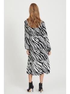 vimamilda l/s midi dress  /su 14056757 vila jurk black/zebra